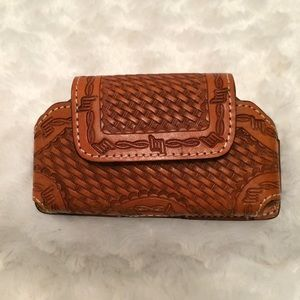Handtooled Leather Cell Phone Case